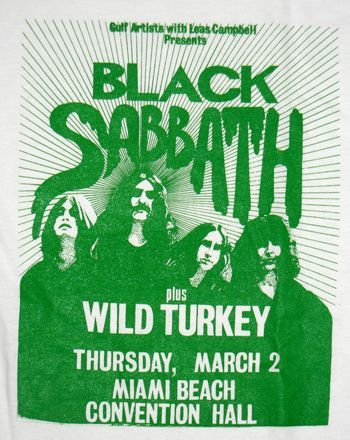 Black Sabbath - Live Poster T-Shirt