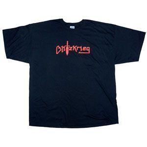 Blitzkrieg Logo T Shirt Nwobhm Metal Clothing Merch