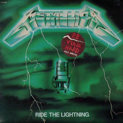 Metallica - Ride the Lightning LP Bernett green cover