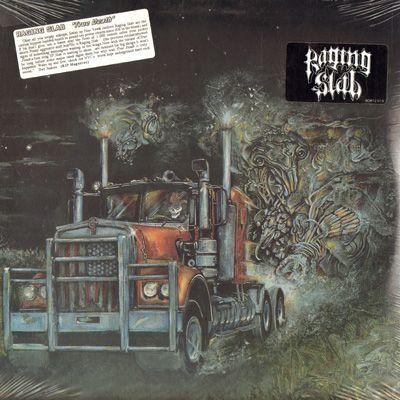 Raging Slab True Death Lp 1988 Vinyl Heavy Rock Record