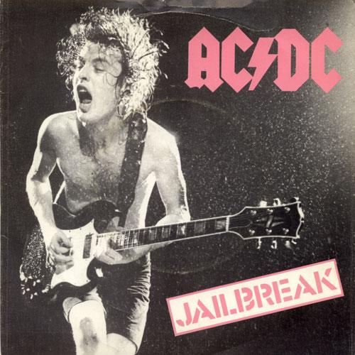 Ac Dc Jailbreak Fling Thing Single 1980 Vinyl Record Uk