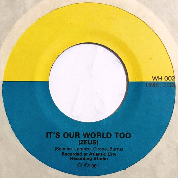 Zeus - It\'s Our World Too 7-Inch 1981 hard rock private press single ...