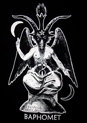Baphomet T Shirt Satan Heavy Metal Clothing Apparel Shirts
