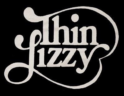 thin lizzy - 70s logo t-shirt hard rock shirt classic