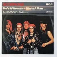 Scorpions - He's A Woman, She's A Man / Suspender Love 7-Inch PB 5556