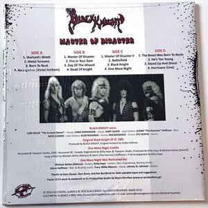 Black Knight - Master Of Disaster 2-LP