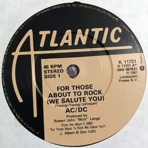 AC/DC - For Those About To Rock (We Salute You) 7-Inch