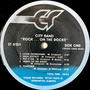 City Band - Rock...On The Rocks LP