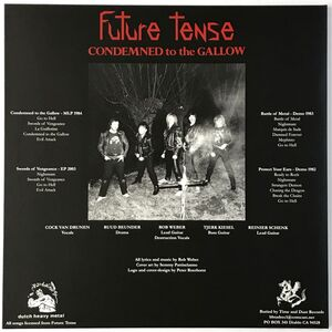 Future Tense - Condemned To The Gallow 2-LP Dust 040