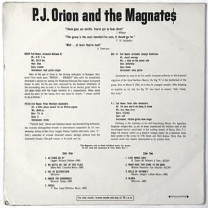 P.J. Orion And The Magnates LP