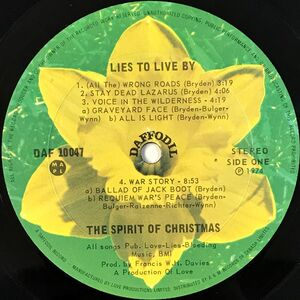 Spirit Of Christmas - Lies To Live By LP