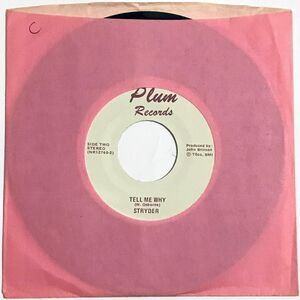 Stryder - Rock N Roll Man / Tell Me Why 7-Inch