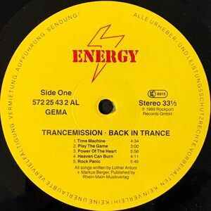 Trancemission - Back In Trance LP