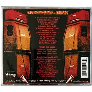 Truth And Janey - Erupts! CD