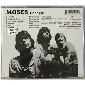 Moses - Changes CD SHAD 120CD