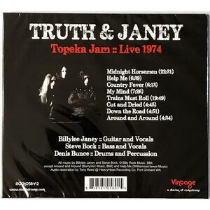 Truth And Janey - Topeka Jam CD ROCK058-V-2