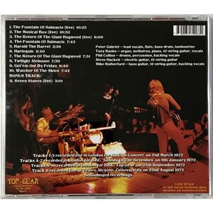 Genesis - BBC Sessions (January 1972 - September 1972) CD TOP 5