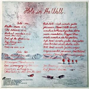 Hole In The Wall - Hole In The Wall LP PALP014