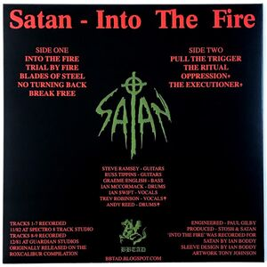 Satan - Into The Fire LP (+7-inch) Dust21