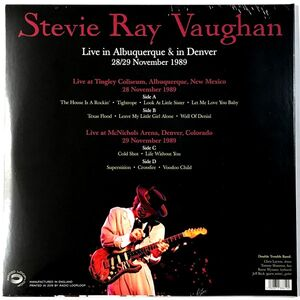 Vaughan, Stevie Ray - Live In Albuquerque & Denver November 1989 2-LP RLL 019