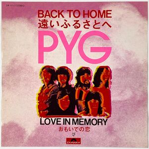 Pyg - Back To Home / Love In Memory 7-Inch DR 1711